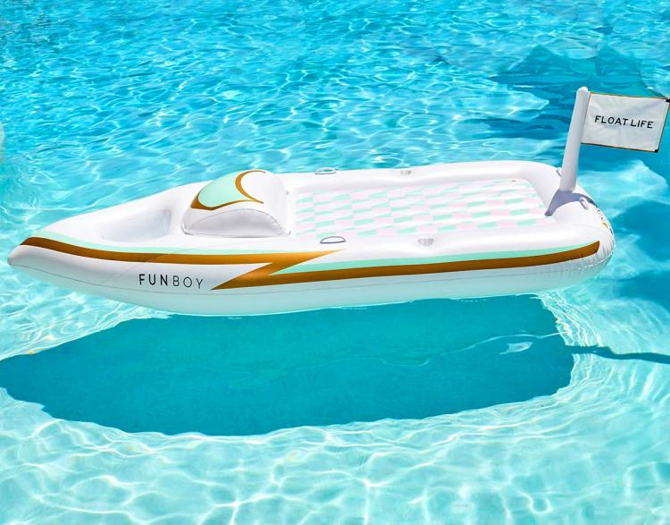FUNBOY Mini Yacht Pool Float - Inflatable yacht lake floaty