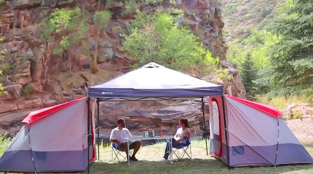 Ozark Trail Connectent 4-Person Tent Modular Tent System - Share common area under shelter