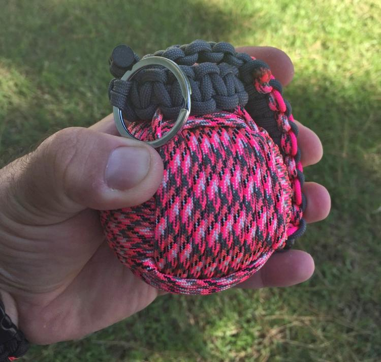 how to make a paracord grenade keychain