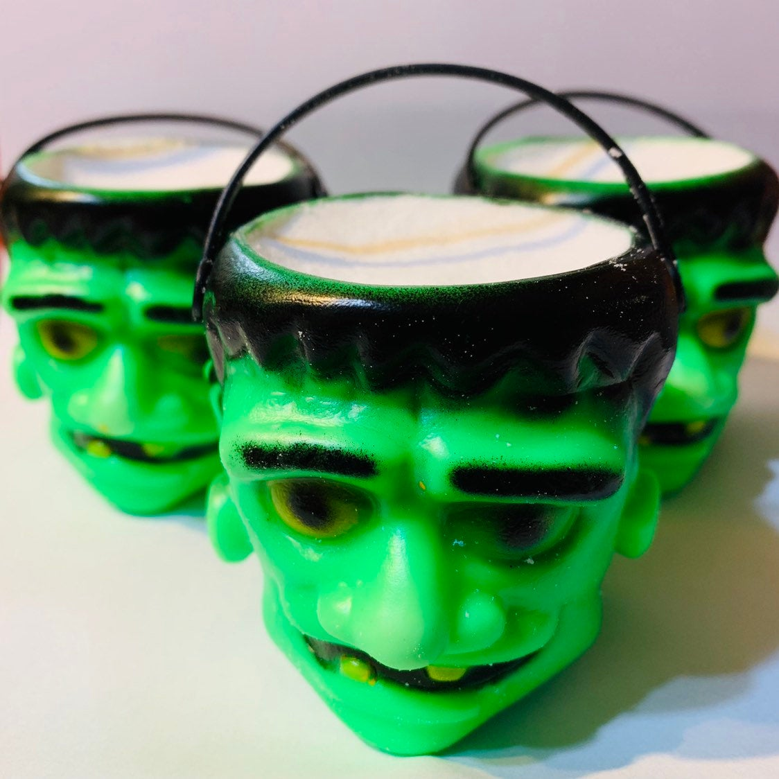 Scary Horror Frankenstein monster Bath Bomb - Melting Frankenstein Cauldron bath bomb