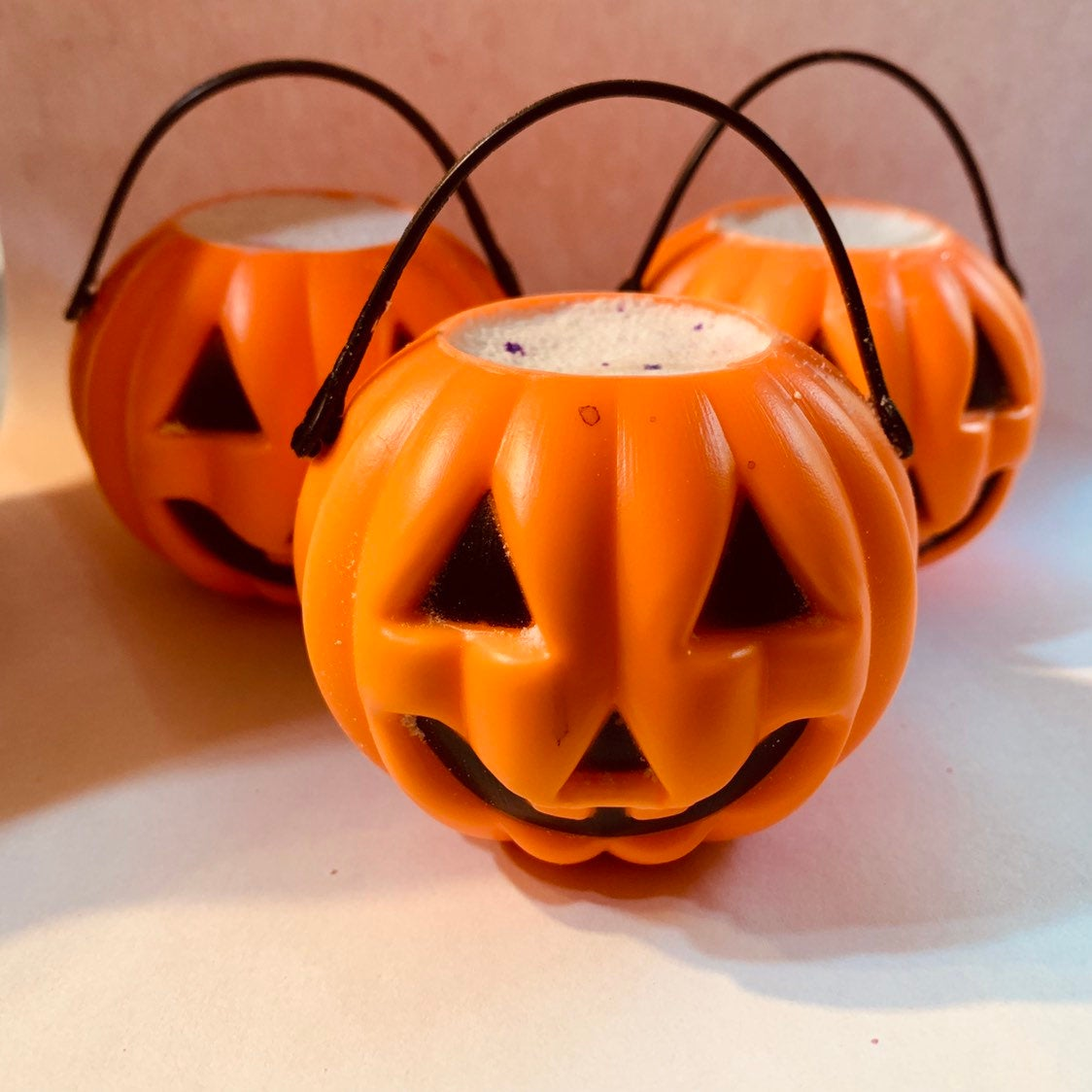 Scary Horror Jack-o-lantern bucket pumpkin Bath Bomb - Melting Pumpkin bath bomb