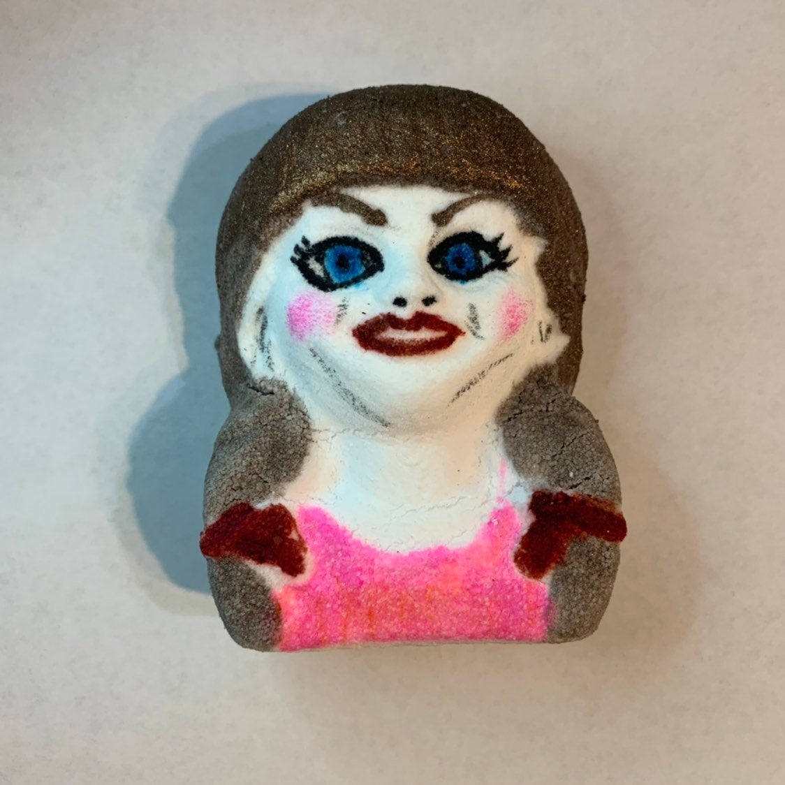 Scary Horror Porcelain Doll Bath Bomb - Melting Doll bloody bath bomb