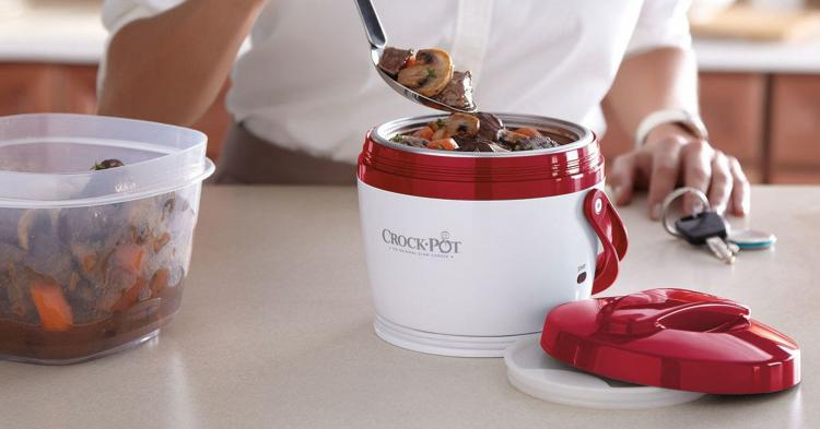Portable Crock-Pot Lunch Crock - Portable slow-cooker lunch pale