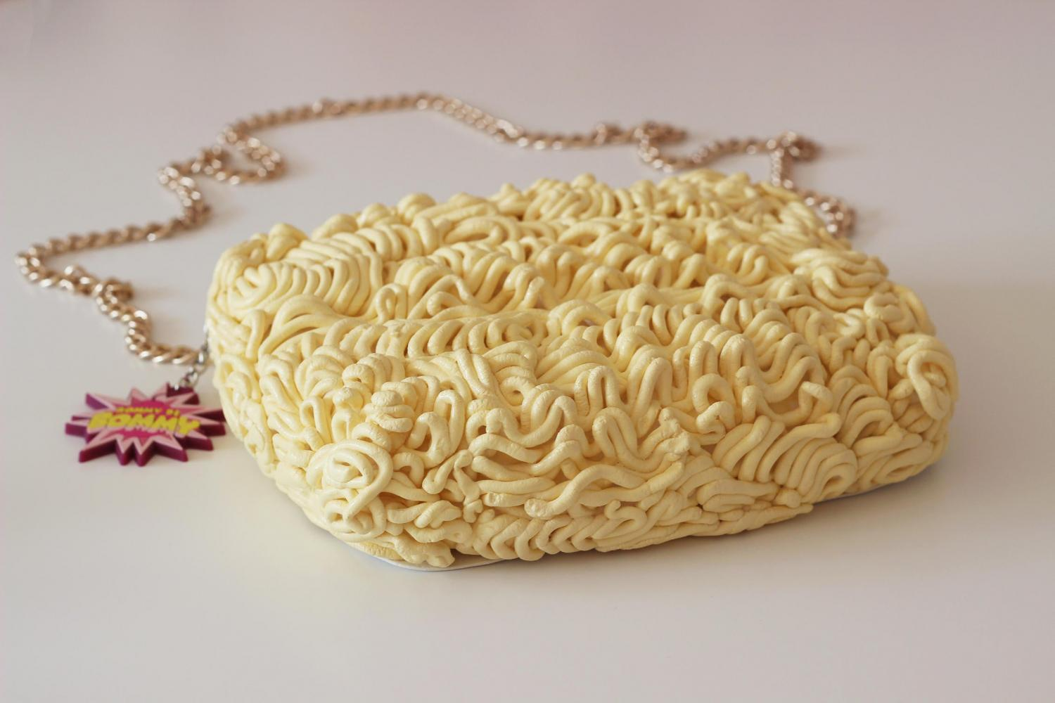 Ramen Noodles Handbag - Asian noodles clutch purse