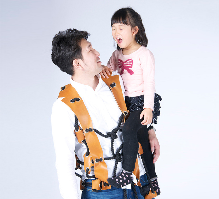Rope Suit Turns Dad Into Jungle Gym
