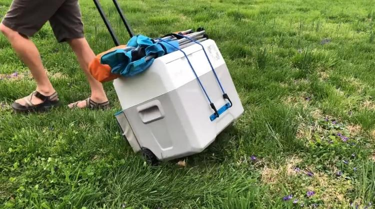 Solar powered cooler - portable refrigerator with solar panels - Gosun chill portable solar cooler