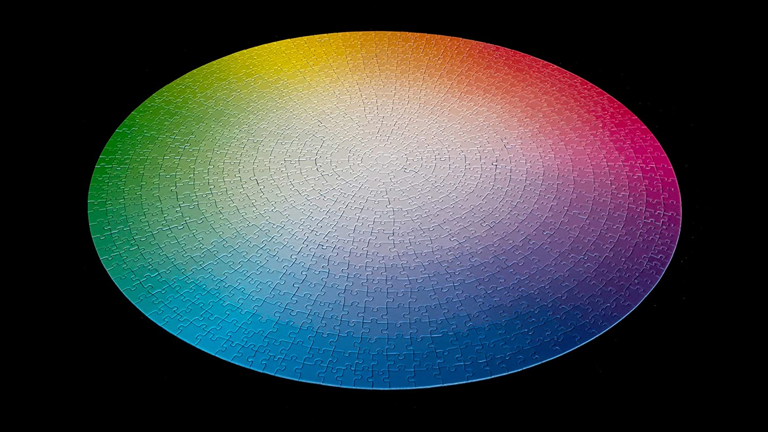 colorful gradient circular jigsaw puzzle 1000 pieces