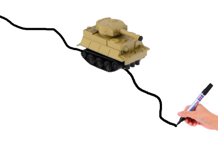Magic Pen Inductive Tank - Mark Line Following Toy Tank