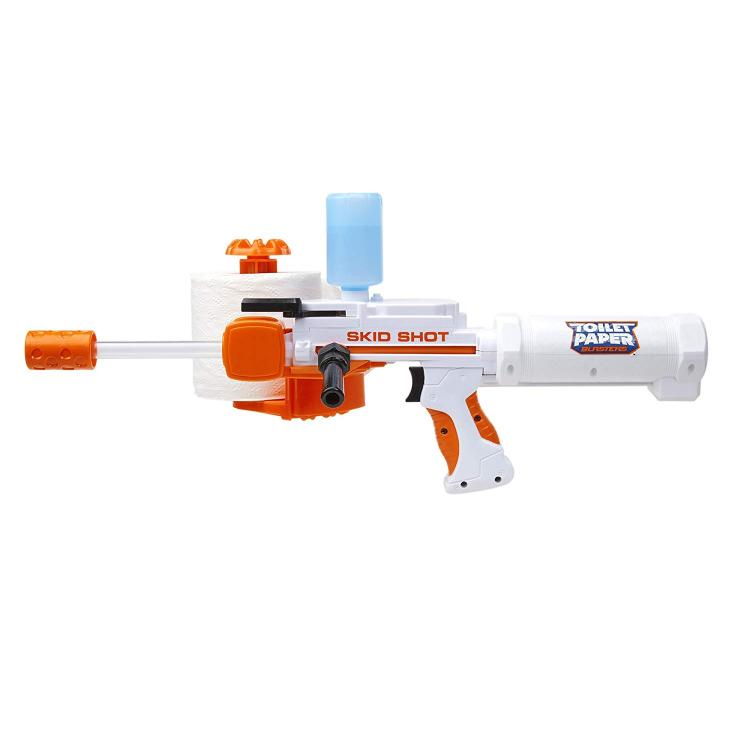 Spitball shooting toy gun - Toilet paper rolls makes 350 clean spitballs - Shoots spitballs over 30 feet