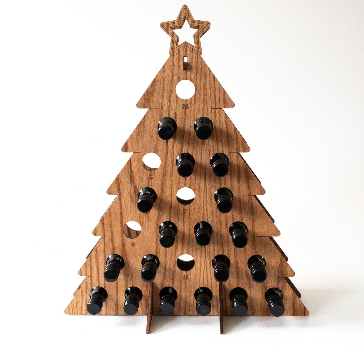 Adult Beer Bottle Christmas Tree Advent Calendar - Wine Bottle Advent Calendar