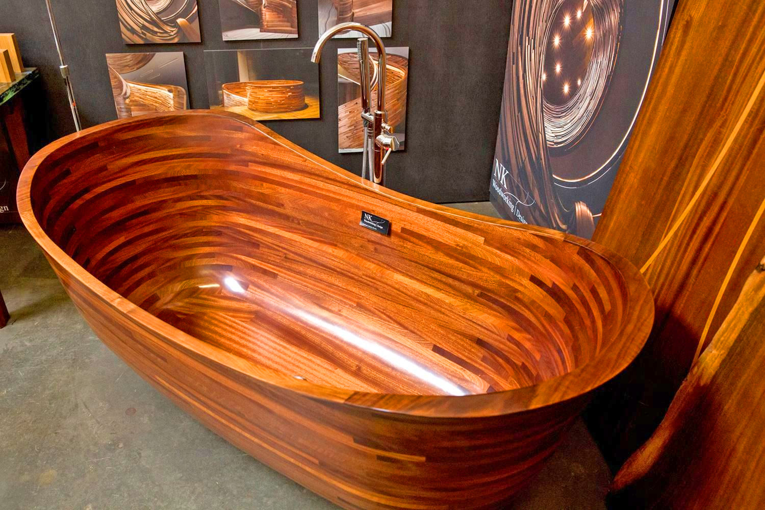 Luxurious Wooden Bathtubs - Shipbuilder wooden bathtubs inspired from ships - NK Woodworking Design