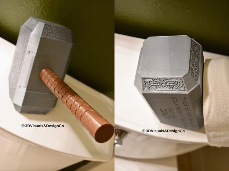 Thor's Hammer Toilet Paper Holder