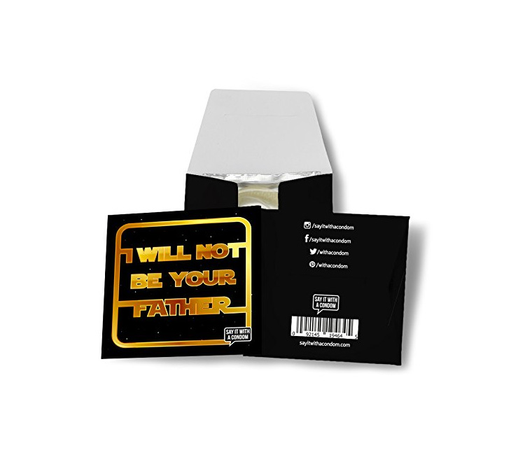 I will not be your father funny star wars condom