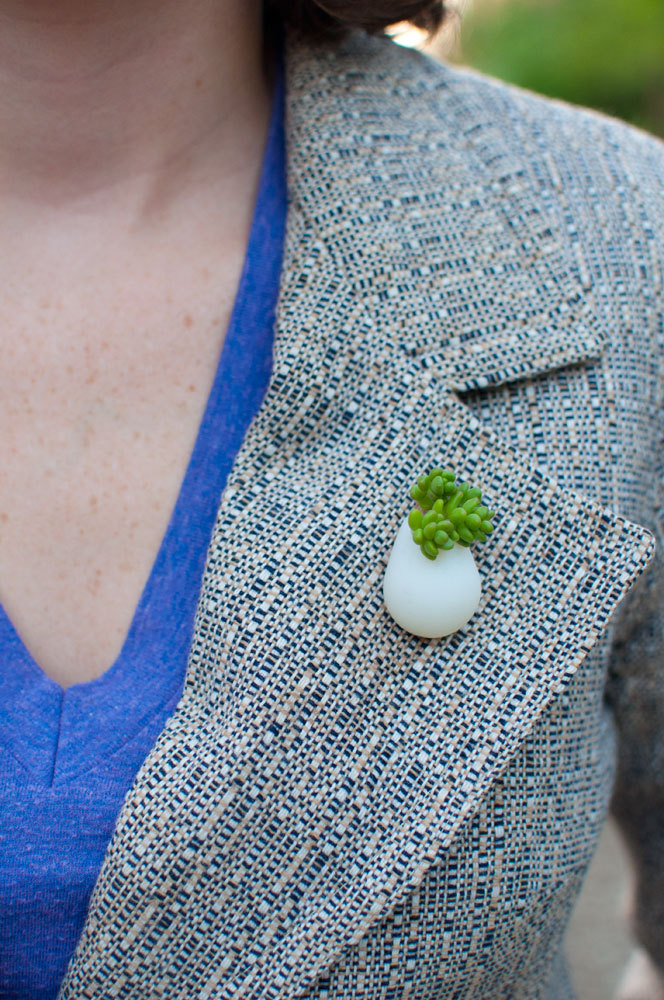 Mini Planter Brooches - Mini planter lapel pins