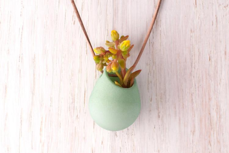 Mini Planter Necklace - Mini succulent necklace planters