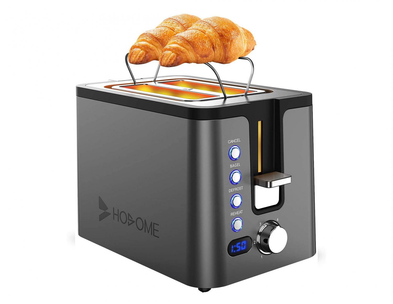 Toaster With Warming Rack - Pastry warming toaster