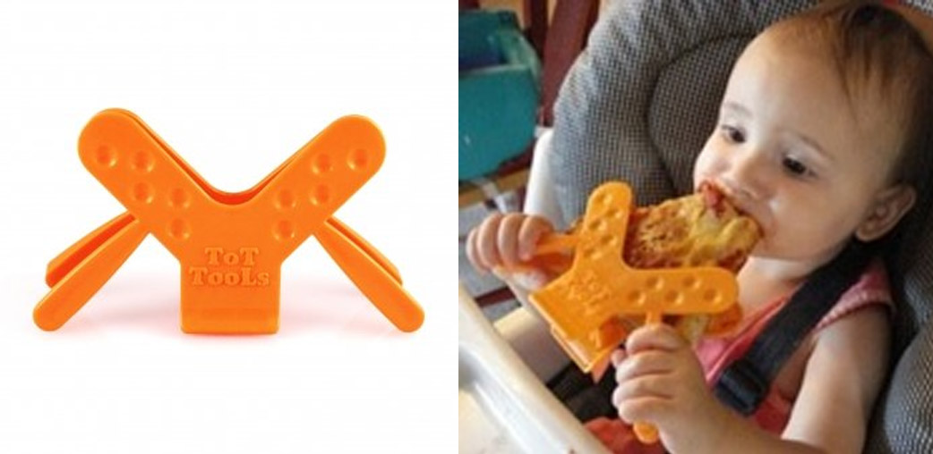 Tot Tools - Genius Clamp Utensil Helps Toddlers Learn To Eat Whole Foods