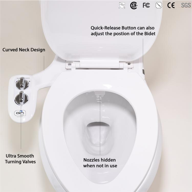 Aim To Wash Bidet Toilet Attachment - Night Light Toilet Attachment