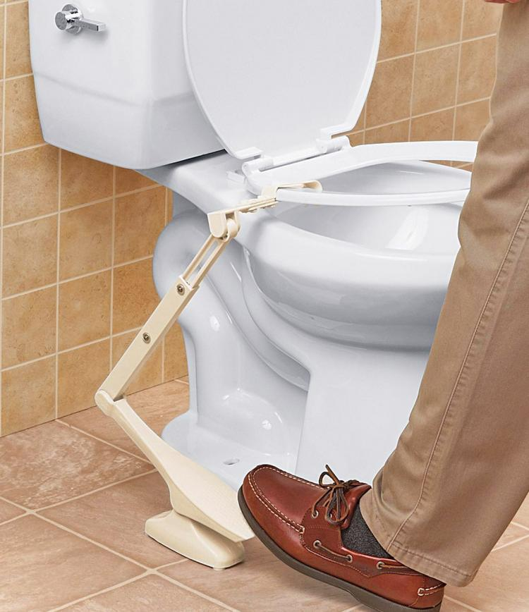 Toilet Seat Lifting Pedal - Lift toilet seat with foot pedal