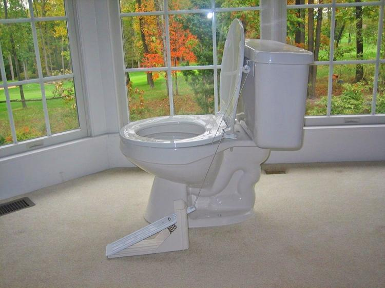 Enjoyable Toilet Seat Lifting Pedal Squirreltailoven Fun Painted Chair Ideas Images Squirreltailovenorg