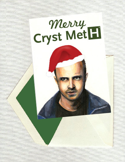 Breaking Bad Merry Cryst Meth Christmas Holiday Card