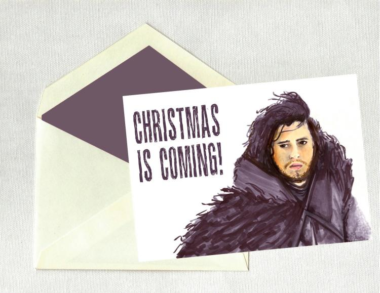 Game Of Thrones Christmas Is Coming Christmas Holiday Card