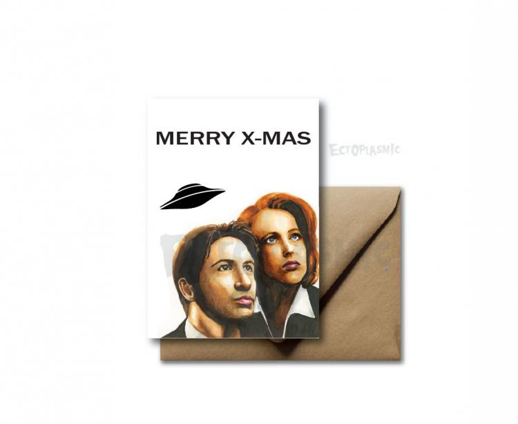 X-Files - Merry X-mas - Christmas Holiday Card