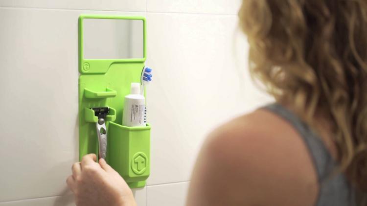 Tooletries Silicone Shower Organizer - Stick to wall bathroom organizer
