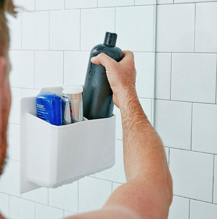 Tooletries Silicone Shower Organizer - Stick to wall bathroom organizer