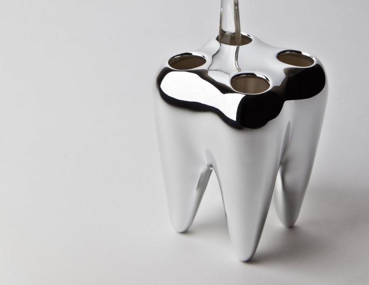 Tooth Shaped Toothbrush Holder