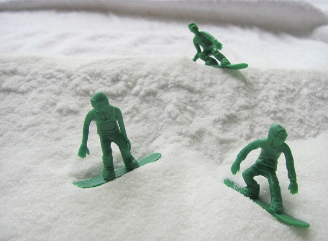 Toy Boarders - Little Green Army Men Snowboarders