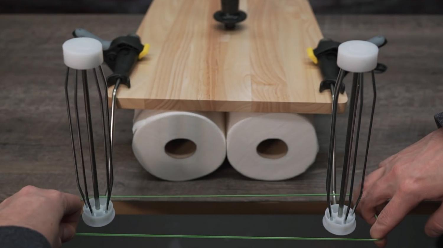 Toilet Paper-Splitter Machine That Turns Your 2-Ply Toilet Paper Into Two Rolls
