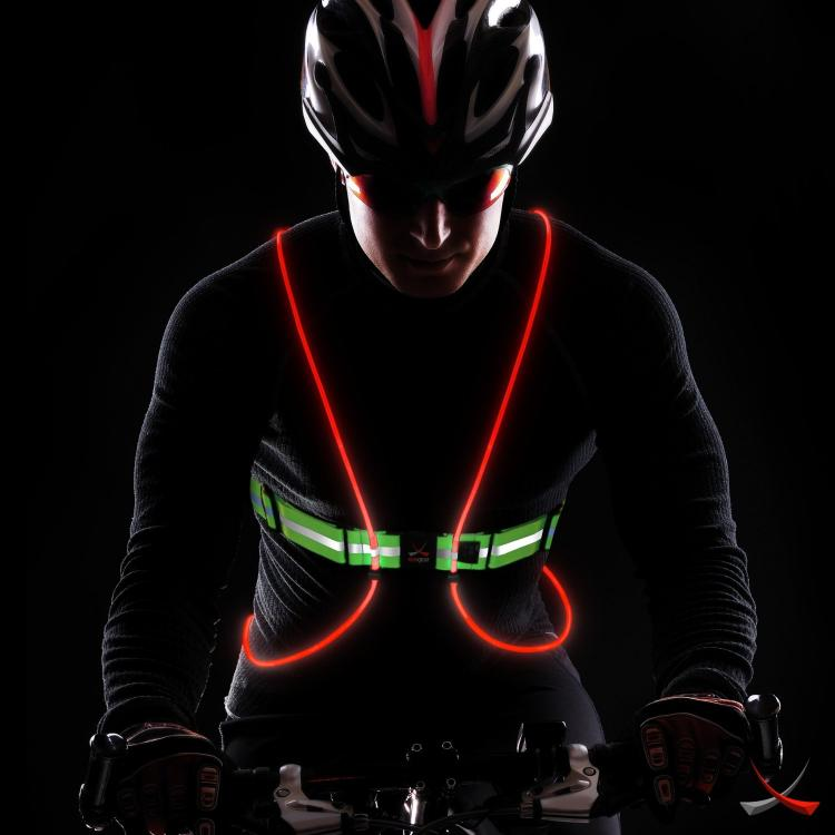 Tracer 360 - Illuminated Running Vest - Light-up bicycling vest