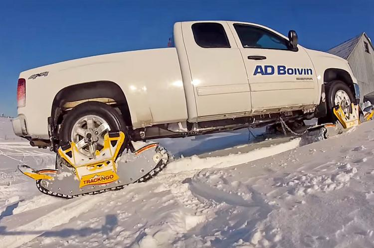 Track N Go - Wheel Driven Track Snow System Turns Your Truck Into a Snowmobile