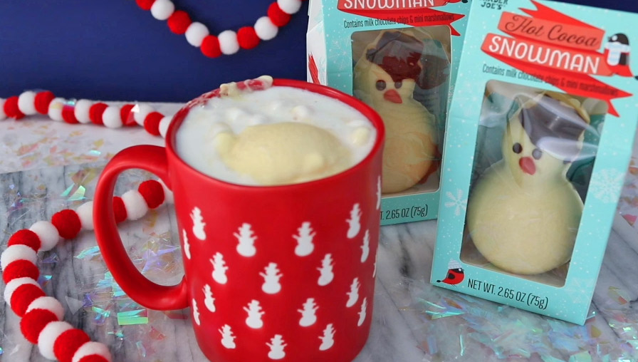 Trader Joe's Melting Marshmallow Snowman For Your Hot Cocoa