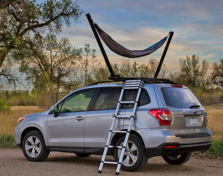 Trailnest Rooftop Car Hammock - Hammock attaches to top of SUV Truck