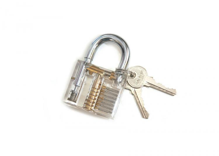 Transparent Padlock Help Learn To Pick Locks