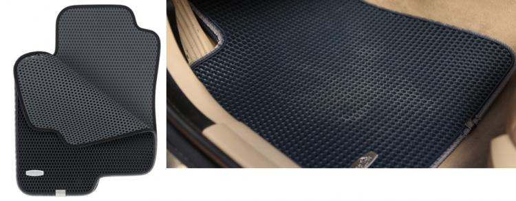 TrapMats - Dual Layered Honeycomb Design Car Floor Mats - Honeycomb floor mats hide dirt - super easy to clean