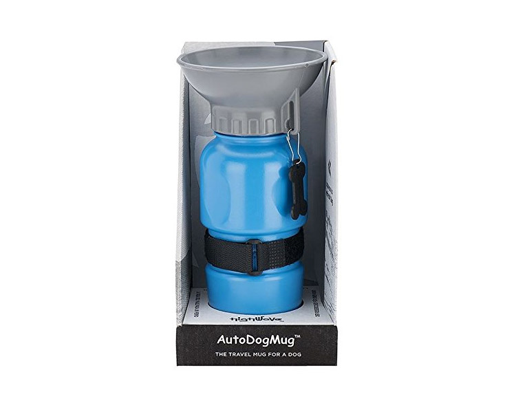 Travel Water Bottle For Dogs - Squeeze To Fill Bowl With Water