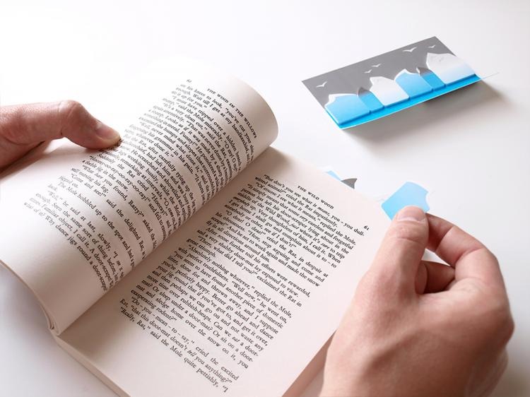 3D Sticky Book Page Markers - Ocean