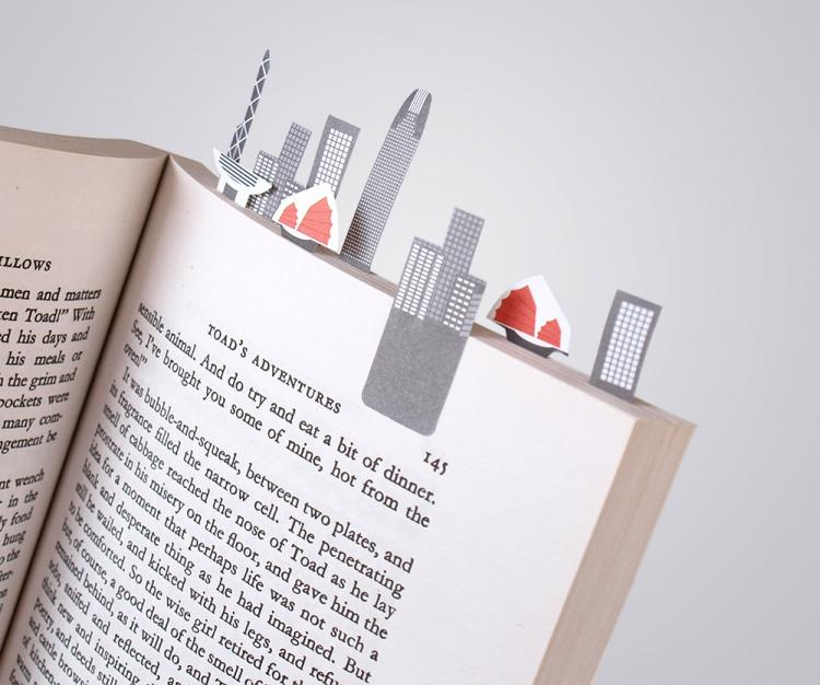 3D Sticky Book Page Markers - Hong Kong