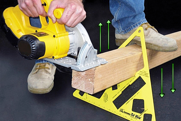 Tri-Vise Lumber Lok - Mini Sawhorse holds lumber off the ground for easy cutting