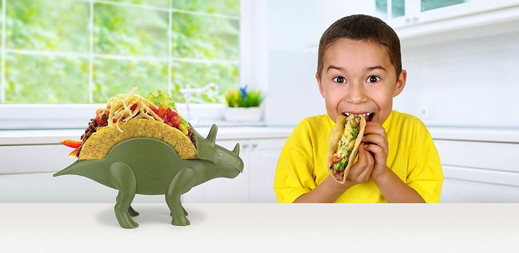 Tricerataco - Triceratops taco holder - Dinosaur shaped taco holder plate