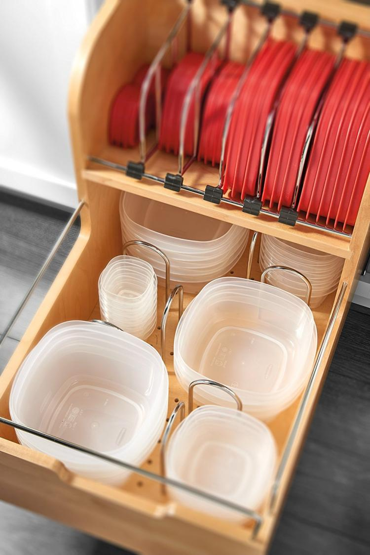 Kitchen Cabinet Storage Organizers: Adjustable Pull-Out Cabinet Drawer For Organizing Your