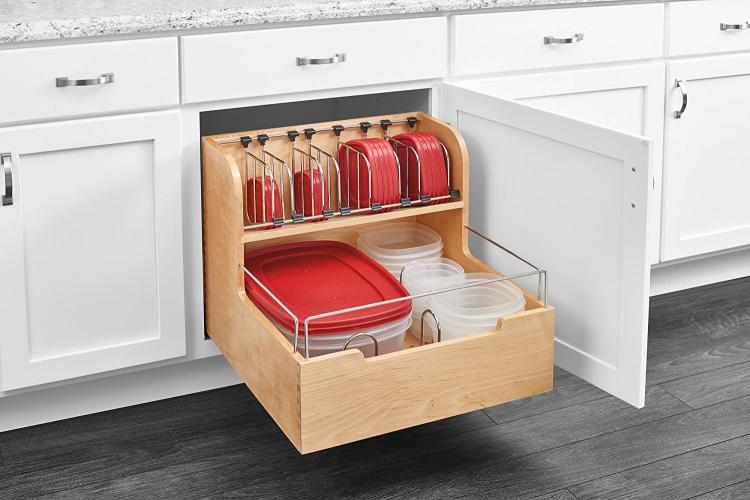 Adjustable Pull-Out Cabinet Drawer For Organizing Your