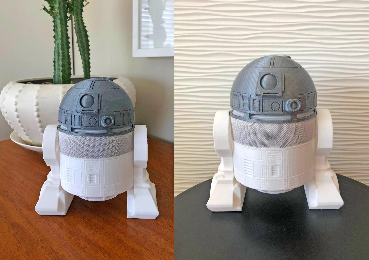 3D Printed Smart Speaker Holder Turns Your Amazon Echo Dot Into Star Wars Character R2-D2