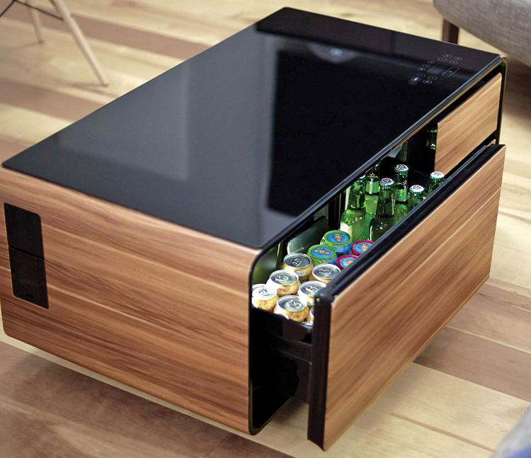 Ultimate Coffee Table With Built-In Fridge and Speaker System - Smart Coffee Table Gadget