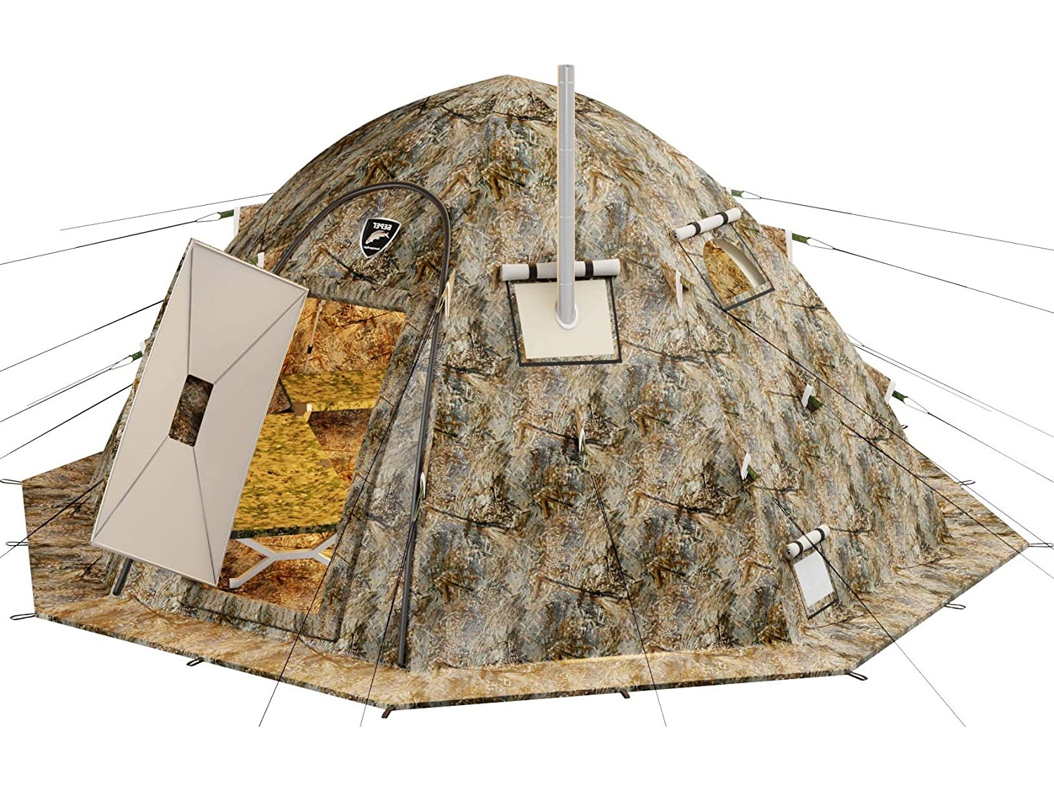 Ultimate Cold-Weather Camping Tent Has a Built-in Wood Stove - Russian-Bear Hot Tent Arctic camping tent