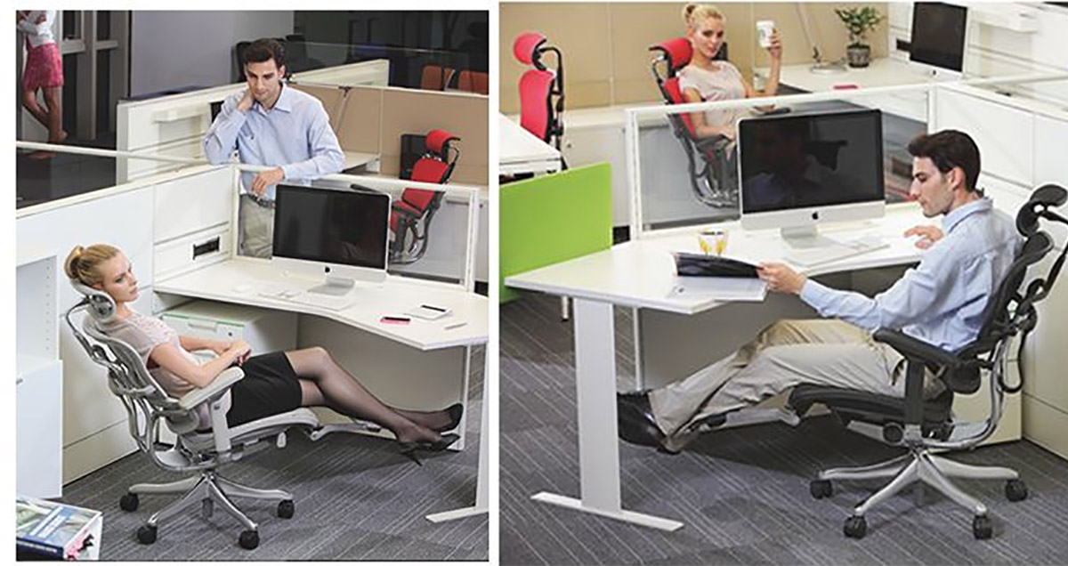 This Ultimate Office Chair Has a Laptop Mount, Leg Rests, and a Head Rest