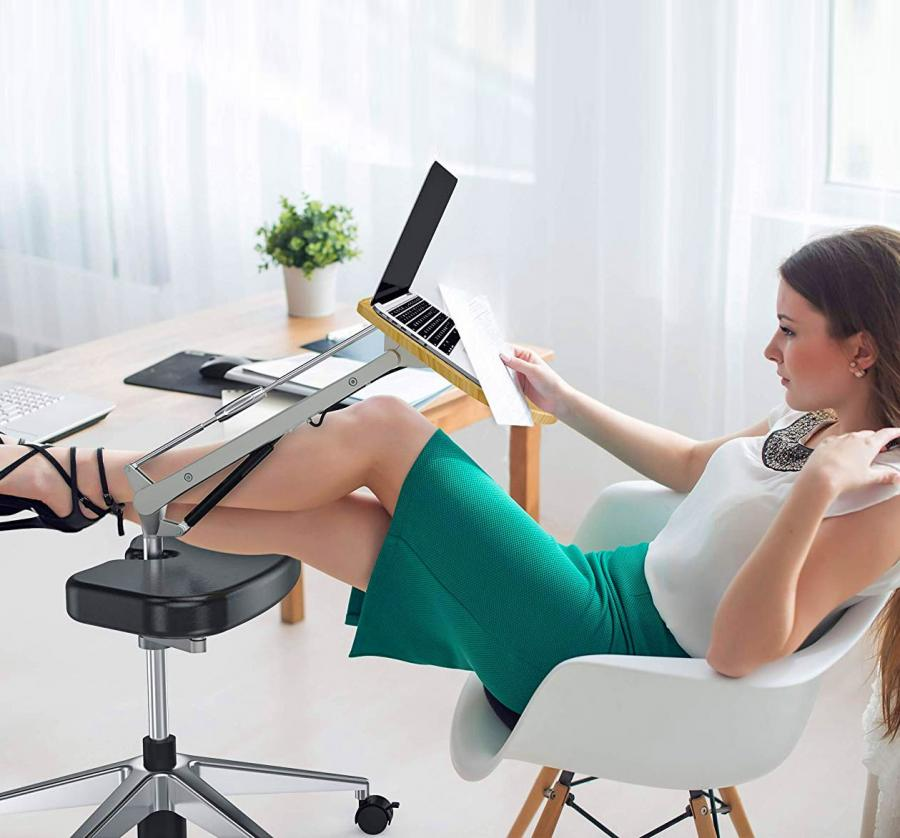 The RoomyRoc Mobile Laptop Desk Lets You Lounge While You Work